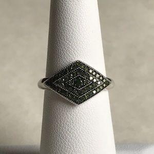 Genuine Green Diamond Ring